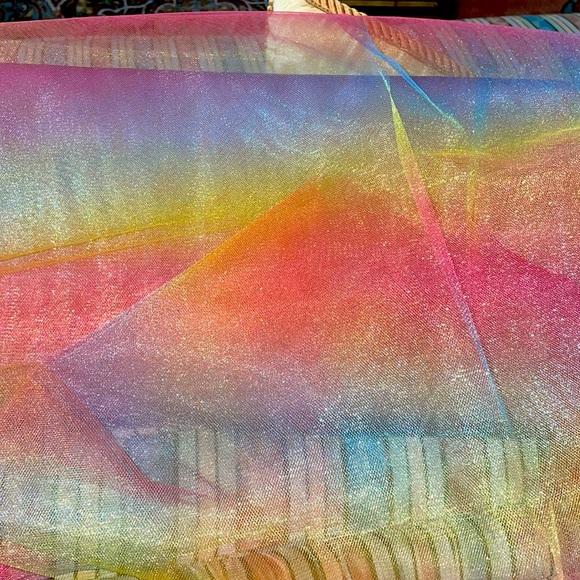 Bolt tulle fabric beautiful ombré rainbow colors
